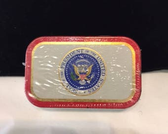 Presidential Altoids tin