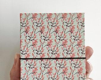 Mini Book of Stories concertina scrapbook album for photos herbarium recipes, handmade in Italy, 38 pages, white or black,  autumn light
