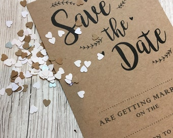 A6 Calligraphy Style Save The Dates x 50