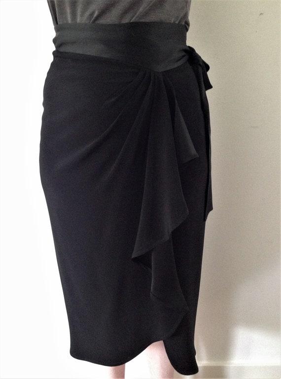 MOSCHINO CHEAP&CHIC vintage 90s black tulip wrap s