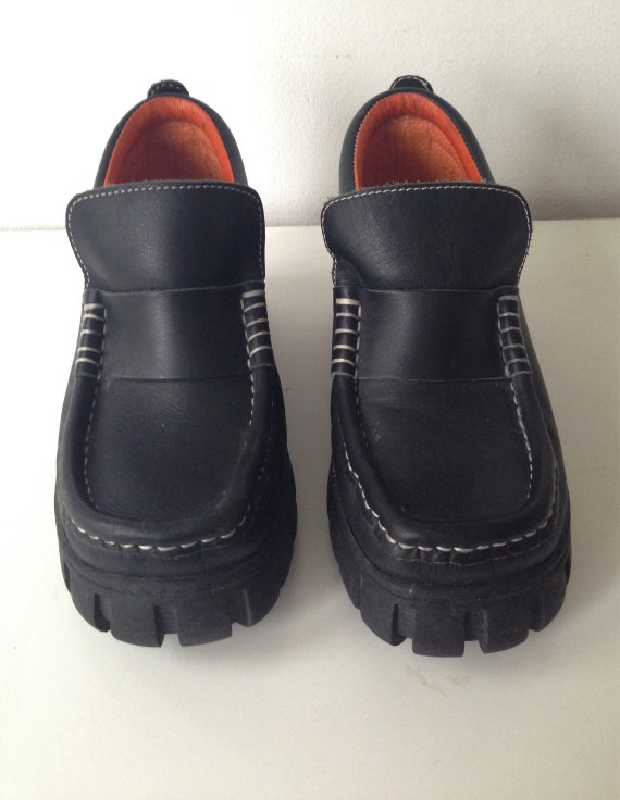 Vintage 90s loafers platform shoes from