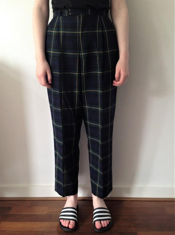 Vintage 80s tapered pants // Vintage high waist ta