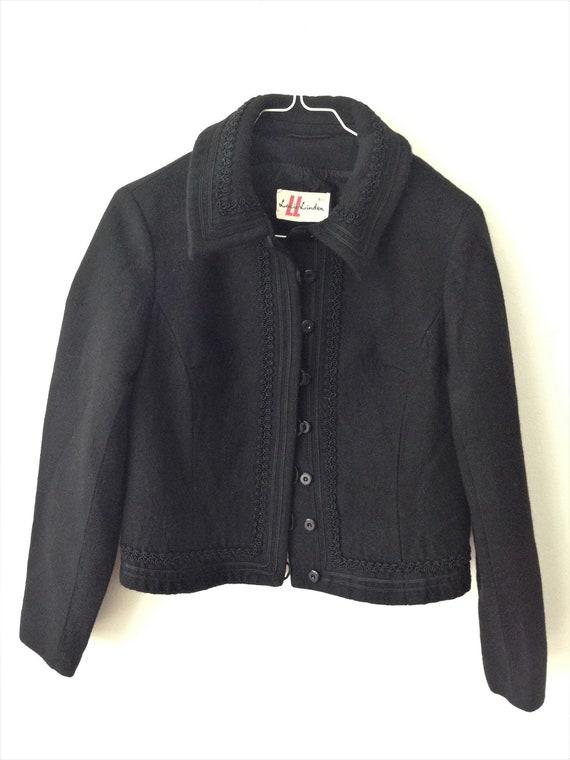 Beautiful Vintage Lucie Linden WOOL 50s jacket //