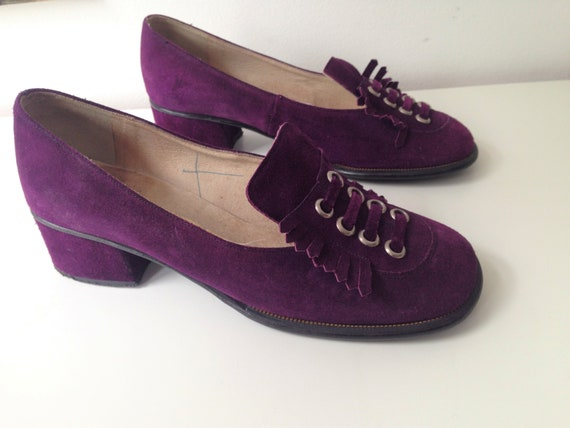 Vintage purple 60s / 70s shoes // Beautiful 70s lo