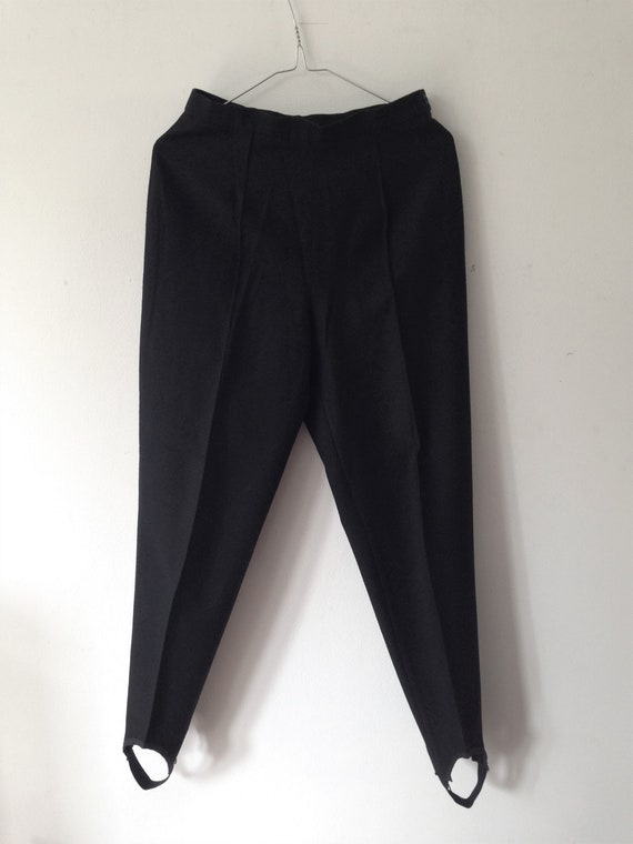 Vintage hand made 80s Cigarette Stirrup Pants // H