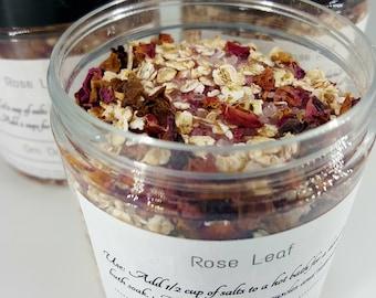 Roase Bath Oats - Rose Bath Herbs - Rose Bath Salts - Herbal Bath Salts - Aromatherapy Bath Salts - Rose Love Salts - Love Bath - Self Love