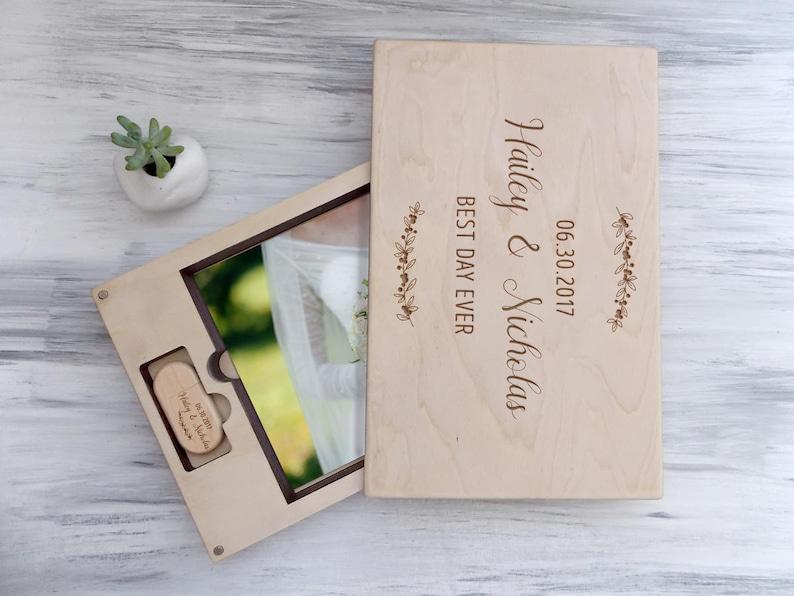 Wedding Gift Ideas For Couple Wedding Photo Box Anniversary Gift Wood Keepsake Box Wedding Memory Gift For Wife Custom Gift Box Gift For Her