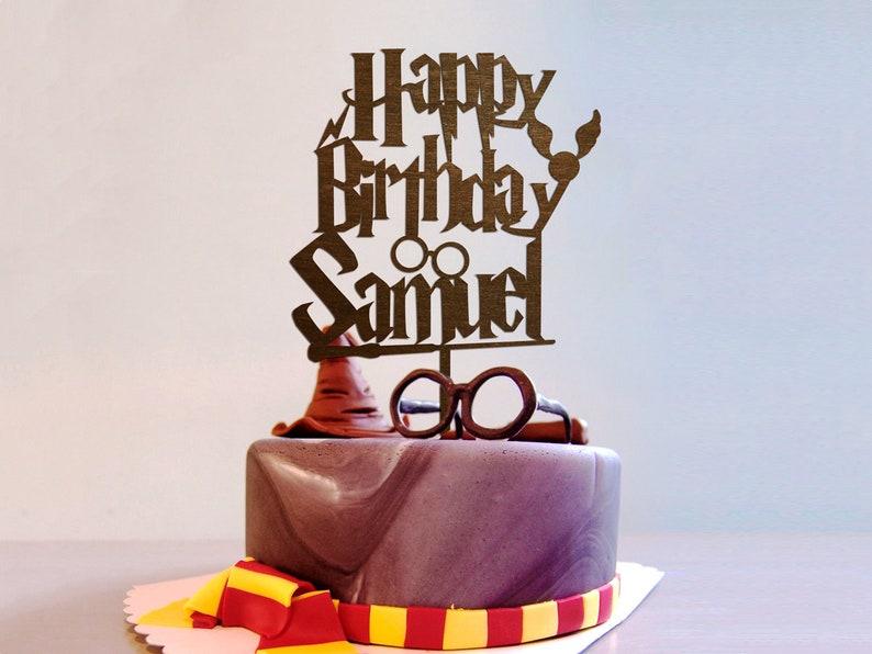 Harry Potter Cake Topper Name