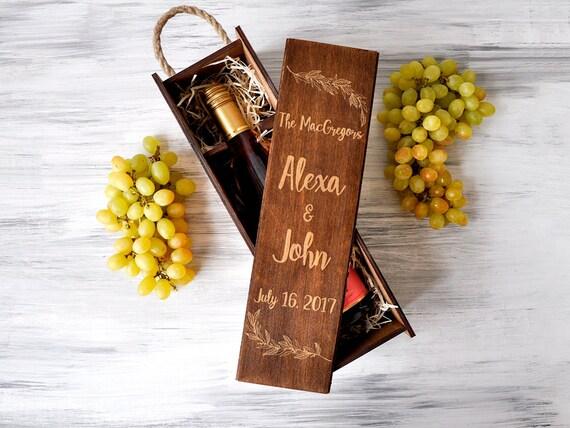 Custom Wine Box Wedding Gift Wedding Wine Box Anniversary Gift Etsy