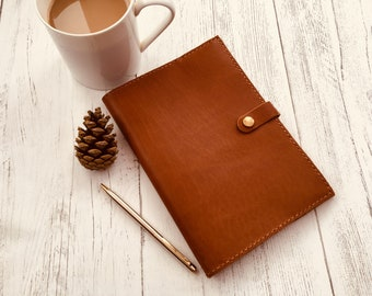 1cf954374eee Morgan + Wells  Poppin  leather notepad    soft leather journal cover     Made in Yorkshire    A5 notebook    third wedding anniversary