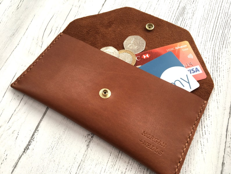 Morgan + Wells 'Lawrenny' leather purse // soft hand stitched leather purse  // Made in Yorkshire // Gifts for her // evening purse //