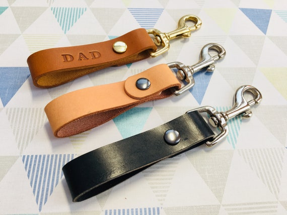Morgan + Wells 'Bill' leather keyring // new home gift // housewarming // quality leather // personalised // Made in Yorkshire