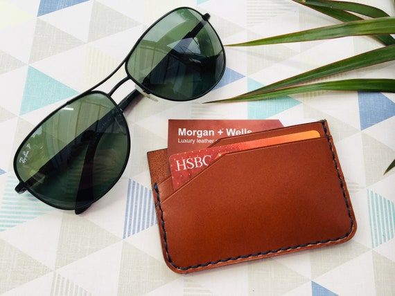Morgan + Wells 'Walmgate' leather wallet // gifts for him // leather card wallet // Mens leather wallet // thin wallet // EDC