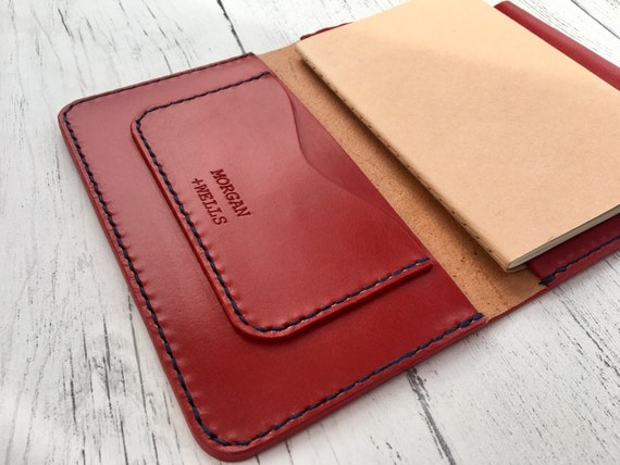 Morgan + Wells 'Lascelles' leather journal // Moleskine journal cover // leather stationary // Made in York // graduation gift // notebook