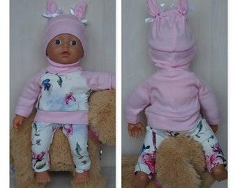 Baby Born oder andere Puppen mit Hasen Puppenmütze