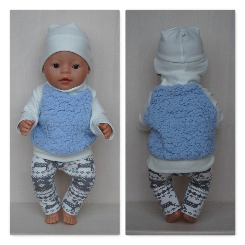 factory price 5e3b4 6bccb Hellblauer Pullover, Mütze und Hose, Winterkleidung für Baby Born Boy oder  Puppenjunge bis 43cm 17, Puppenjungenkleidung, Weihnachtskleidung