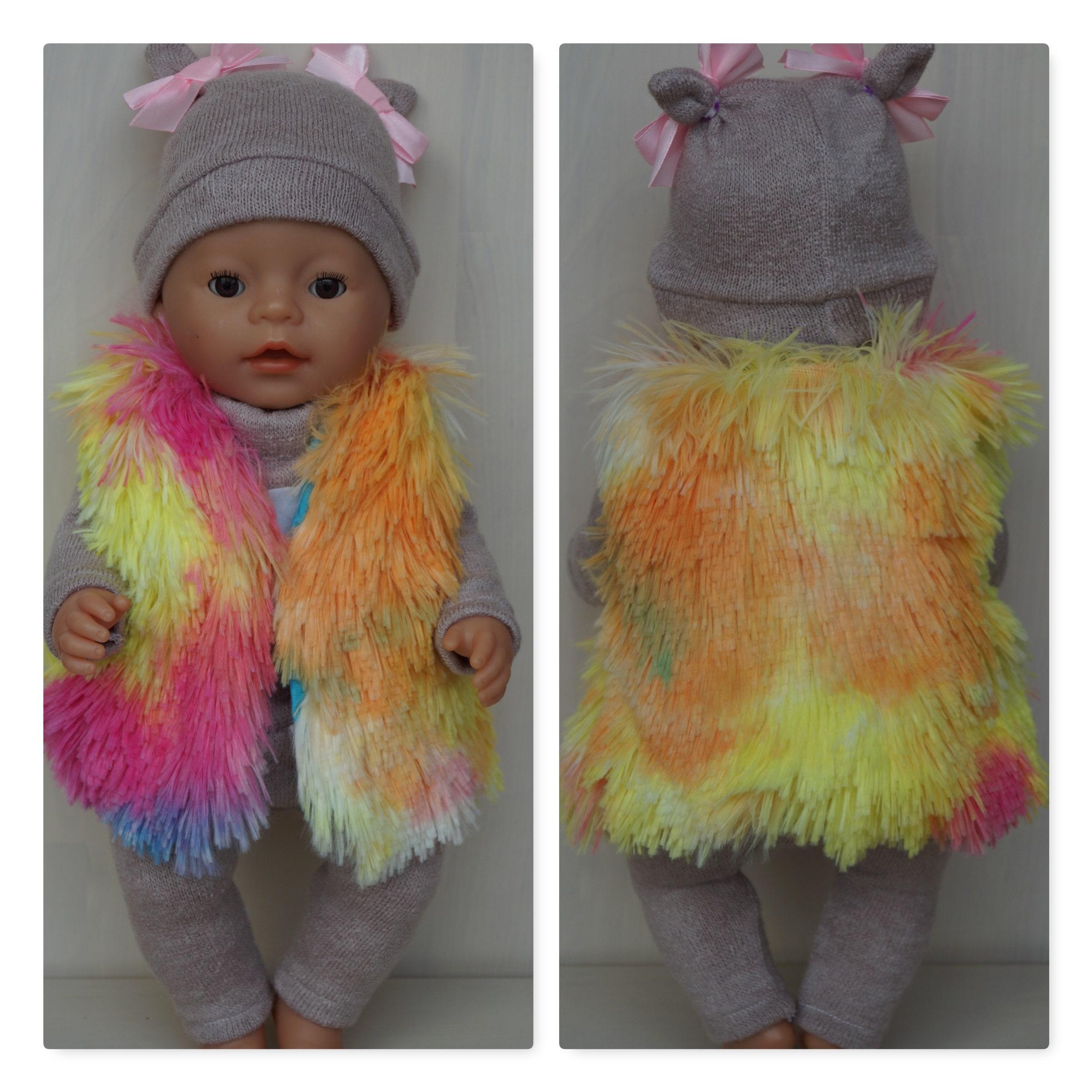 6ba088fb441788 Colorful rainbow colors vest waistcoat for Baby Born sister