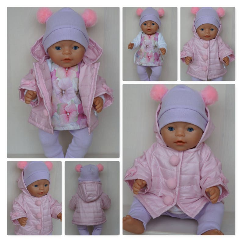 doll 43 for BornBaby other handmade or Born Pink till Baby Annabell jacket SisterBaby cm 6gfIY7yvbm