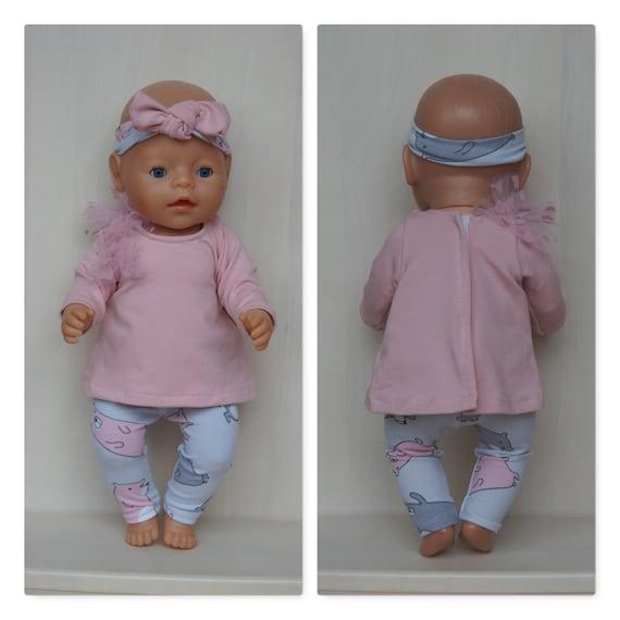 Poupées Vêtements 43 cm Newborn baby doll ou similaires tenue Vérifier les mesures