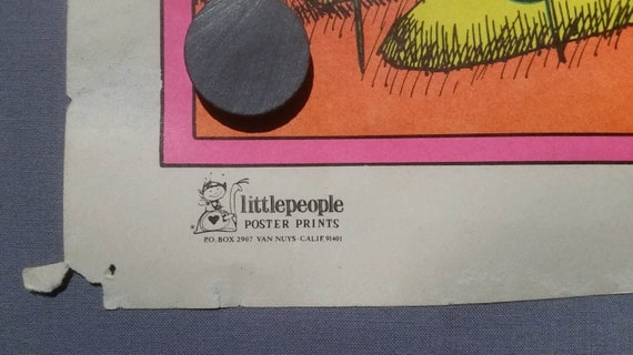 Vintage 1971 Gary Patterson Togetherness Poster LittlePeople Poster Prints