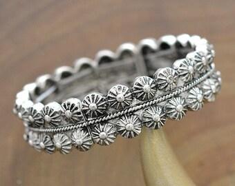 Western Concho Stackable Bracelet