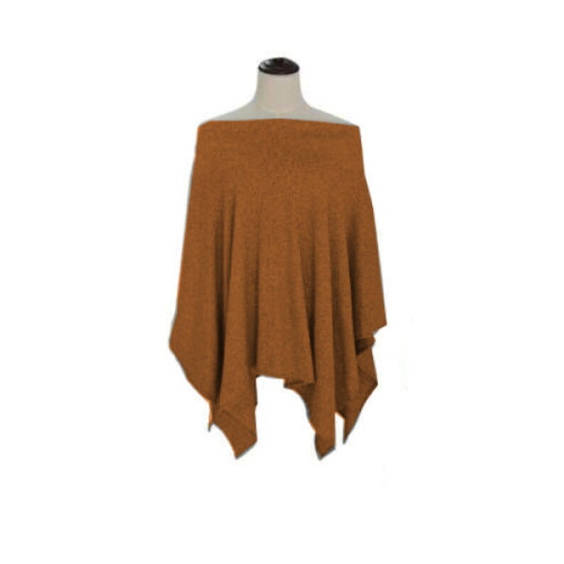 Justin /& Taylor tube flutter drape top brown mustard color one size fits most