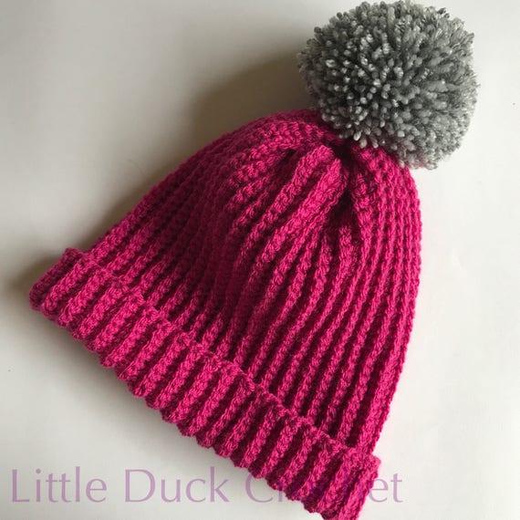 af5e50c81f9 Crochet hat crochet bobble hat crochet beanie crochet pom