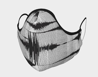 Earthquake Face Cover - Face Mask - seismic - geophysics - science face mask