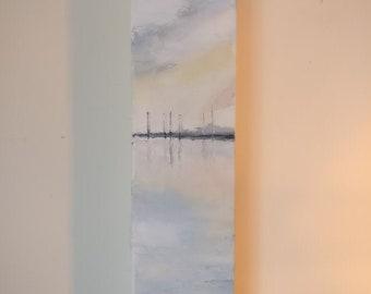 Original Oil Painting Otterspool Promenade 02