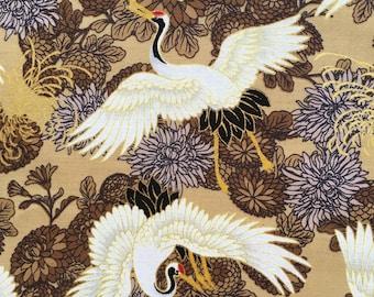 Bird Nests Cotton Fabric Dear Stella Wildlife Birds Eggs Animal Country Metre//FQ