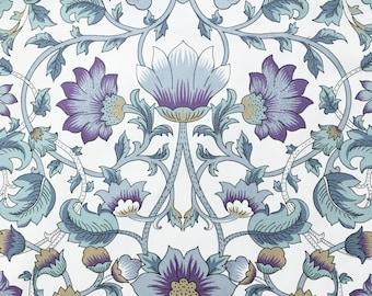 Vintage Art Nouveau Birds Printed Fabric Panel Make A Cushion Upholstery Craft