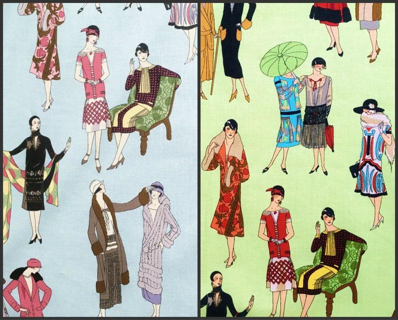 Printed Fabric Panel Make A Cushion Upholstery Craft Vintage Art Nouveau