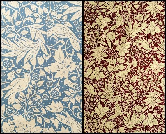 Arts Crafts Birds Fabric Art Nouveau Style British Etsy