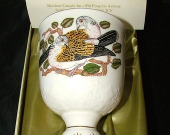 Vitnage Royal Doulton 2 TURTLE DOVES 12 Days of Christmas Limited Edition Goblet New in Box 1981
