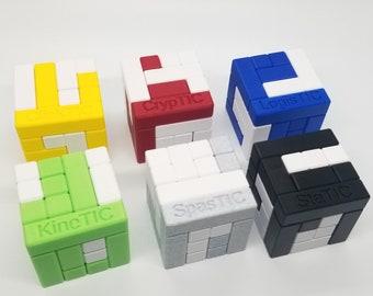 Six Piece Puzzles Volume 2 - Turning Interlocking Cube Puzzles