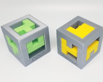 Chamburr and Cyburr - Turning Interlocking Cubes co-designed by Christoph Lohe and Andrew Crowell
