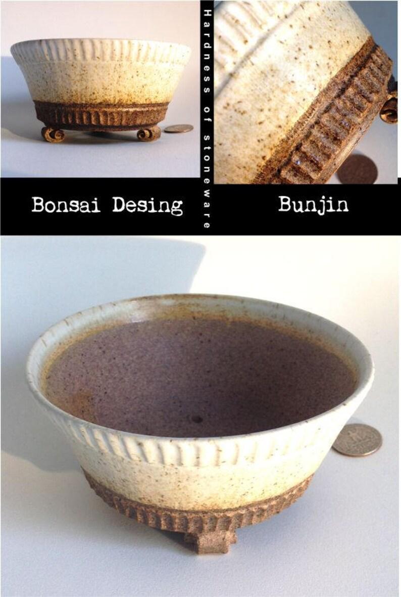 single piece high temperature stoneware ceramics Bonsai flowerpot GaloArtworks bonsai pot Bunjin Clay, display Pot Bonsai pot