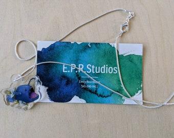 Angler Fish acrylic charm necklace