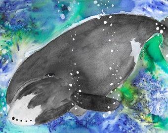 Bowhead Whale Print