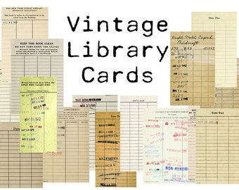 library checkout cards template