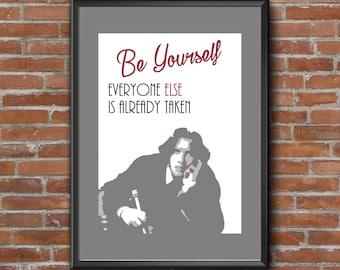Digital printing. Oscar Wilde