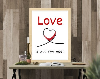 Digital printing. Love is all you need