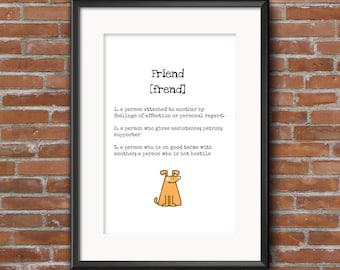 Poster 'that's what friends are for'.