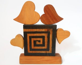 Wooden hearts decoration-wooden furniture-gift idea