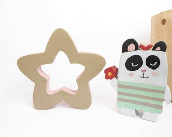 Decorative colored wooden Star-wooden furniture-wooden decoration-gift idea