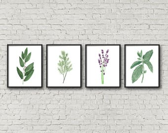 Delicieux FRAMED Botanical Herb Watercolor Paintings, Kitchen Art, Fine Art Print,  Herb Painting, Botanical Wall Art, Gift For Moms