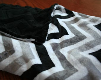 Chevron Minky Baby Blanket
