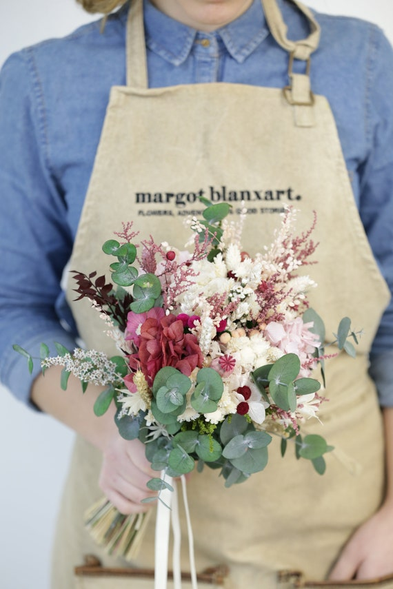 Preserved Flowers And Greenery Bridal Bouquet Ramo De Novia Etsy