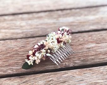 Small wildflower comb / preserved flower comb / tocado de flores silvestres / flower headpiece / boho headpiece