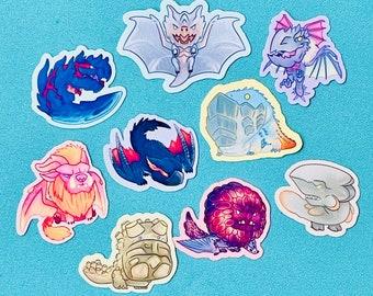 Monster Hunter World stickers set 5